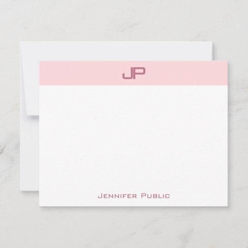 Elegant Blush Pink Monogram Simple Template Top