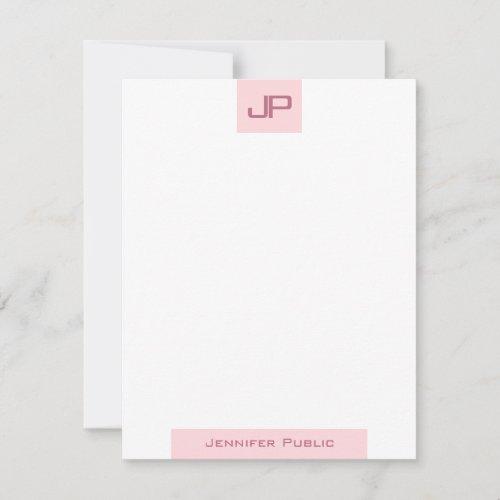 Elegant Blush Pink Monogrammed Simple Template