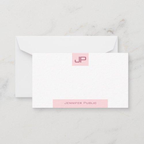Elegant Blush Pink Template Modern Monogram Simple