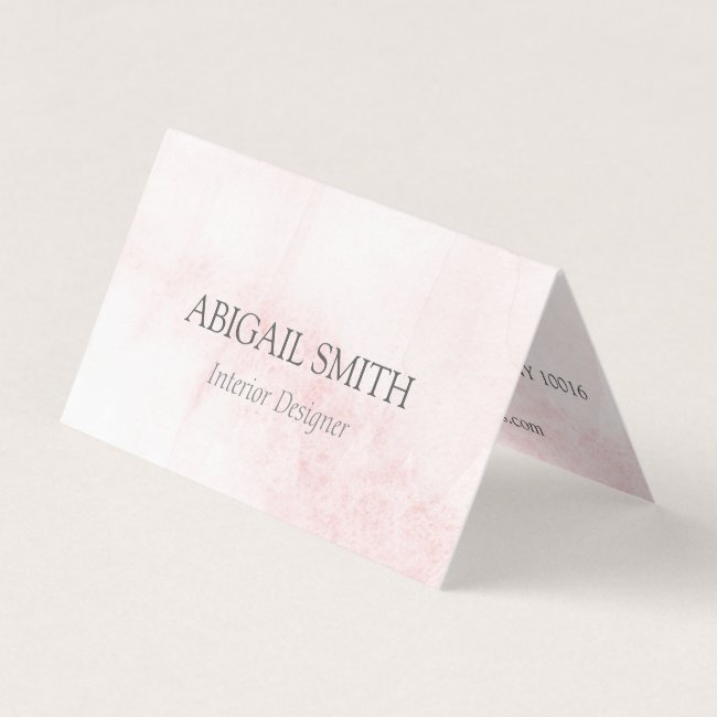 Elegant Blush Watercolor Folded Business Card