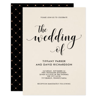 Elegant Blush Wedding Invitation