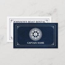 Elegant Boat Rental (Personalize) Business Card