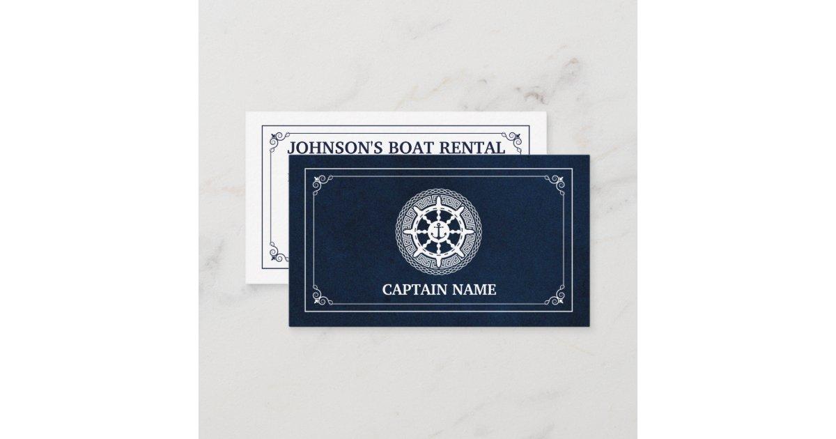Elegant Boat Rental (Personalize) Business Card | Zazzle.com