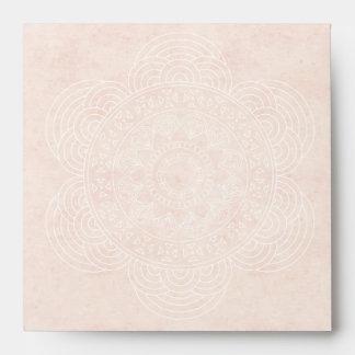 Elegant Boho Mandala Wedding Envelope