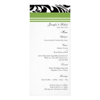 Elegant Bold Floral Wedding Menu Card