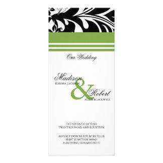 Elegant Bold Floral Wedding Program Card