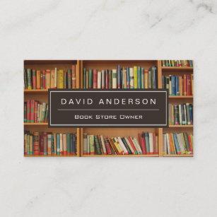 Bookstore gifts on zazzle elegant bookstore book store owner bookshelf business card colourmoves