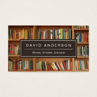 Elegant Bookstore Book Store Owner Bookshelf Business Card