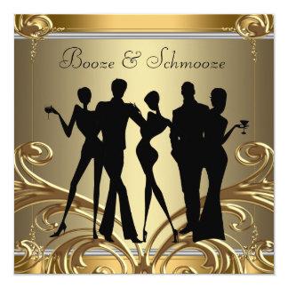 Elegant Booze and Schmooze Invitations