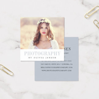 Elegant Border | Photographer Square Business Card