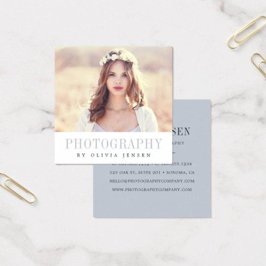 Photographer business cards templates zazzle elegant border photographer square business card reheart Choice Image