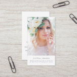 """Elegant Border   Photographer Vertical Business Card<br><div class=""""desc"""">Elegant business cards for photographers showcase your best work in a vertical format with your name or business name beneath. Personalize the reverse side with your full contact information.</div>"""