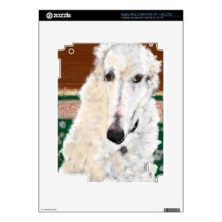 Elegant Borzoi Decals For iPad 3