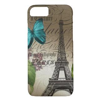 Elegant botanical art floral vintage paris iPhone 7 case