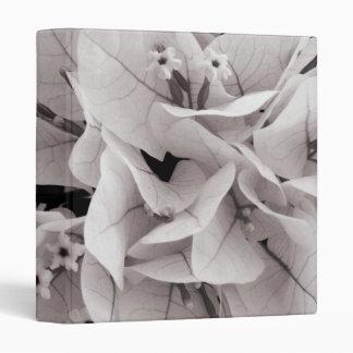 Elegant bougainvillea vintage style floral pattern 3 ring binder