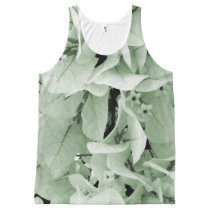 Elegant bougainvillea vintage style floral pattern All-Over-Print tank top