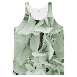 Elegant bougainvillea vintage style floral pattern All-Over print tank top