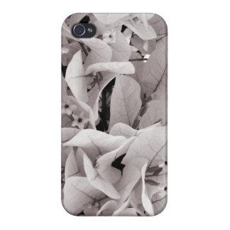 Elegant bougainvillea vintage style floral pattern cover for iPhone 4