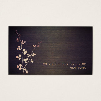 Elegant Boutique Wood Grain Texture Look Business Card