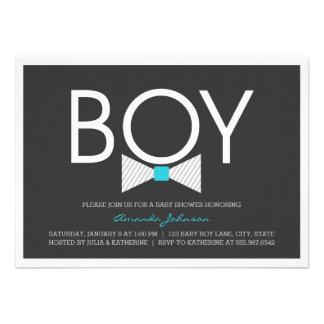 Elegant Bow Tie Boy Baby Shower Invitations Personalized Invitations