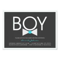 Elegant Bow Tie Boy Baby Shower Invitations