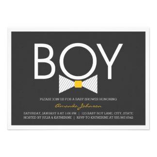 Elegant Bow Tie Boy Baby Shower Invitations Custom Announcements