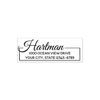 Elegant Boxed Return Address Self-inking Stamp