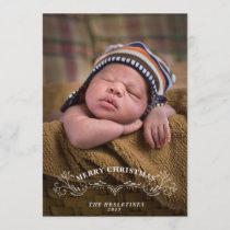 Elegant Bracket Holiday Photo Card