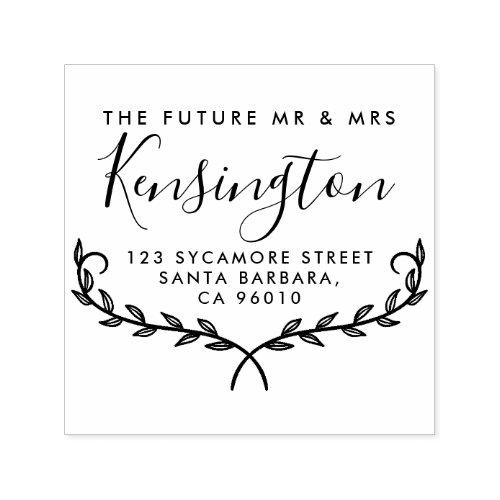 Elegant Branches  Future Mr  Mrs Return Address Self_inking Stamp