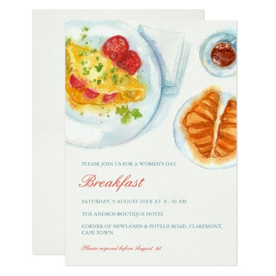 Elegant breakfast invitation zazzle elegant breakfast invitation stopboris