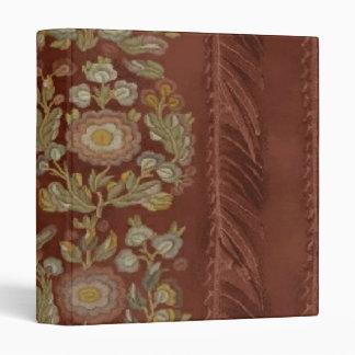 Elegant Brick Floral Design ~ Avery Binder 1 EZD
