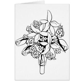 Elegant Bridal Bouquet Clipart Card