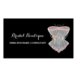 Elegant Bridal Boutique Vintage Corset Lingerie Double-Sided Standard Business Cards (Pack Of 100)