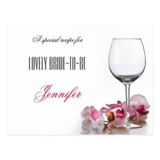 Elegant Bridal Love Recipe Postcard