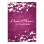 Elegant Bridal Shower Cherry Blossom Plum Personalized Invite