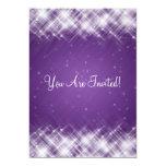 Elegant Bridal Shower Glamorous Sparks Purple 5x7 Paper Invitation Card