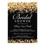 Elegant Bridal Shower Gold Lights Custom Invitations