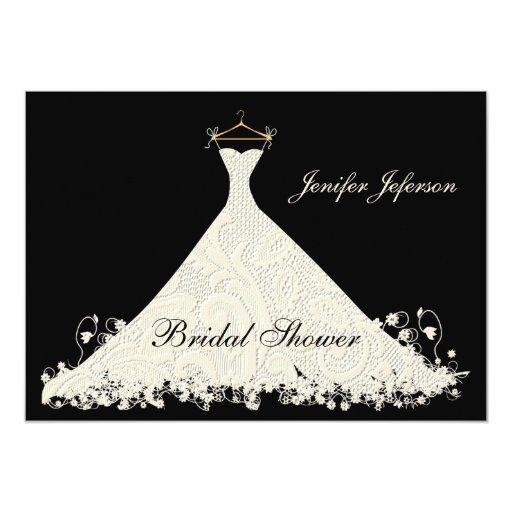 Elegant bridal shower invitation personalized announcement for Designer bridal shower invitations