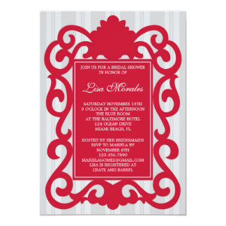 "Elegant Bridal Shower Invitation 5"" X 7"" Invitation Card"