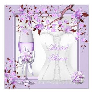 Elegant Bridal Shower Lavender Purple Lilac 4b Custom Invites