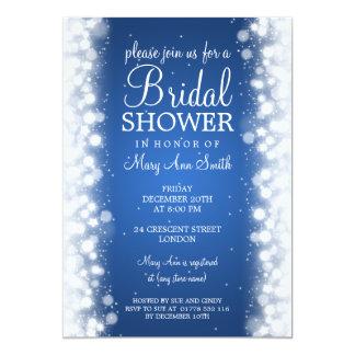 Elegant Bridal Shower Magic Sparkle Blue Card