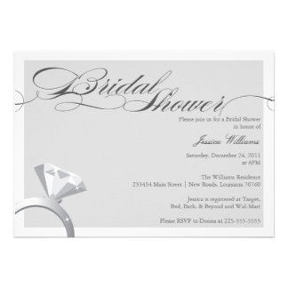 Elegant Bridal Shower Personalized Invitations