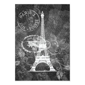 Elegant Bridal Shower Romantic Paris Black Card