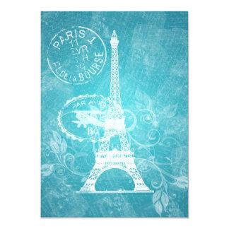 Elegant Bridal Shower Romantic Paris Blue Card