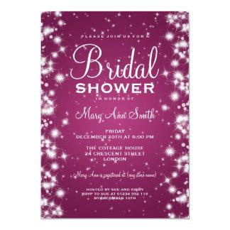 Elegant Bridal Shower Winter Sparkle Pink Card