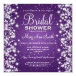 Elegant Bridal Shower Winter Sparkle Purple Custom Invitations