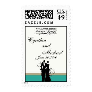 Elegant Bride and Groom Stamp