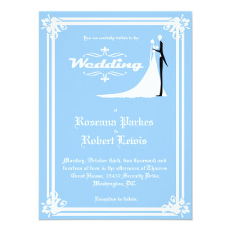 "Elegant Bride and Groom Wedding Invitation 5.5"" X 7.5"" Invitation Card"