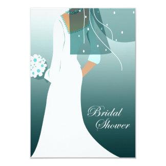 elegant bride bridal shower card