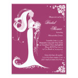 "Elegant Bride Bridal Shower Party Announcement 4.25"" X 5.5"" Invitation Card"